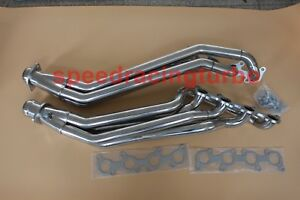 Stainless Steel Long Tube Exhaust Headers For 11 16 Ford Mustang Gt 5 bolts 2