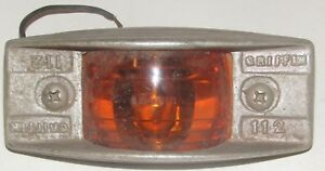 Vintage Griffin 112 Amber Clearance Marker Lamp Glass Bus Early Truck 40 S 50 S