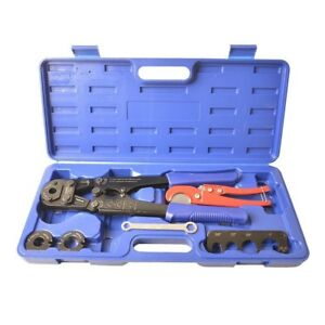 Iwiss F1807 Pex Pipe Crimping Tool Kit For 3 8 1 2 3 4 1 Copper Ring