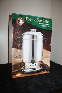Welbilt Commercial Coffee Cafe Stainless Steel 60 Cup Coffee Urn Maker New