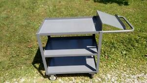3 Shelf Steel Picking Warehouse Utility Cart 1200 Lb Capacity 36 X 24 Jamco