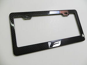 Brand New 100 Real Carbon Fiber License Plate Frame F Sport Is f