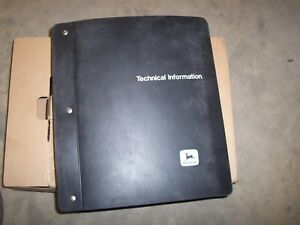 Used Oem John Deere Factory Technical Repair Manual Binder Only Sx 2031