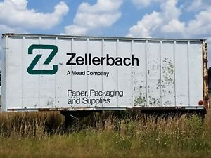 Used Zellerbach Packaging And Supplies Enclosed Trailer As Seen
