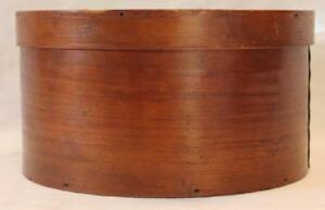 Bentwood Primitive Round Pantry Box Copper And Square Nails W Cover W Lid