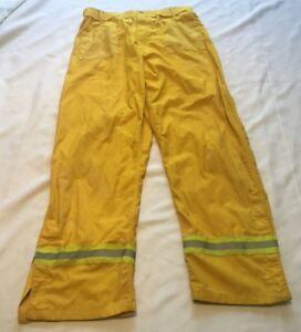 Pia Firefighter Wildland Pants W reflector Stripes Size Large 4