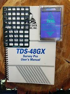 Tds Survey Pro Card Manual Overlay For Hp 48gx Calculator