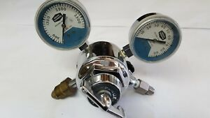 Purox Union Carbide Gas Regulator Type R Tsa 75 With Two Gauges