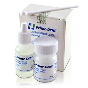 Prime dent Permanent Glass Ionomer Liner Dental Luting Cement Fda