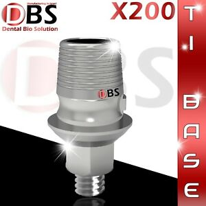 200x Cad cam Ti base Interface Dental Implant External Hex Sirona Compatible