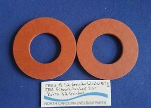 Fiber Washer For Biro 32 Grinder 1 1 4 I d 2 1 2 O d 1 8 Thick Sold In Pairs