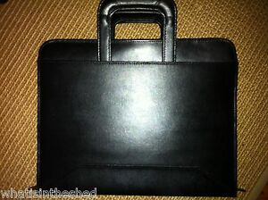 Nwt Dilana Executive Zippered Padfolio Organizer 3 Rings 2 Handles