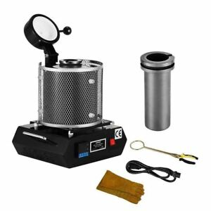 Electric Table Top Gold Silver Precious Metal Melter Furnace Melting Pot