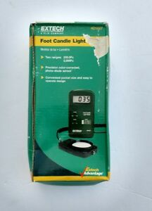 New Extech Foot Candle Light Meter Osha Compliance Testing Lcd Battery Hvac
