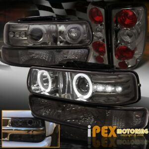 2000 2006 Chevy Tahoe Halo Smoke Led Projector Head Light Signal Tail Lamp
