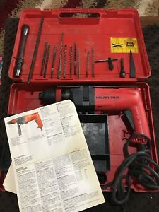 Hilti Tm8 Tm 8 Rotary Hammer Drill Tool With Bits