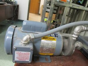 Baldor Single Phase Pump W Motor S25 33 1 3hp 2850 3450rpm 110 115 220 230v