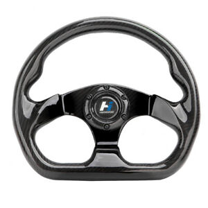 300mm Bolts Racing Steering Wheel Cover Carbon Fiber 6 Holes Universal Jet Plane