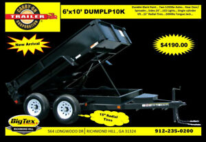 New Carry on 6x10 Dump Trailer W 5200 Axles Near Savannah Ga