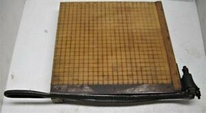 Vintage Burke James Rexo No 4 Paper Cutter 12x12 Solid Wood Metal