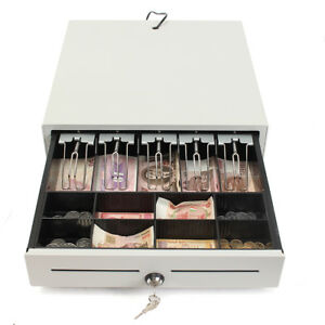 Heavy Duty Electronic Cash Drawer Lock Cash Tidy Register Pos 5 Bills 8 Coins