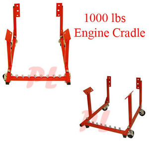 1000 Lbs Cap Motor Engine Cradle Stand Dolly Wheels Mover Chevy V8 Style