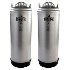 Kegerator com 5gstrkeg 2pk 5 Gallon Ball Lock Keg Nsf Metal Strap Set Of 2