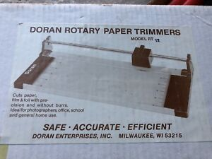 Rotary Paper Trimmer 12 Doran Rt 12 Pro Quality In Box West Germany Made