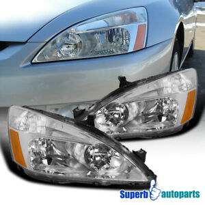 For 2003 2007 Honda Accord 2 4 Door Sedan Coupe Headlights Turn Signal Lamps