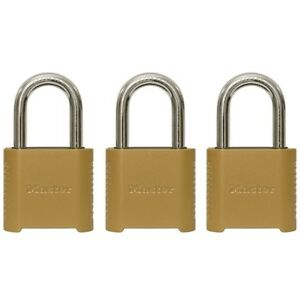 Master Lock 3 pack 2 in W Zinc Combination Padlock