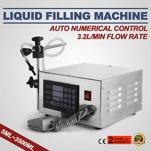 Lt130 Auto Filler Liquid Filling Machine Counting Stainless Steel