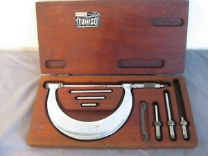 Tumico Feather Touch Tubular Micrometer 0 4 9 Pc Set Complete