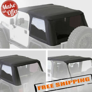 Smittybilt 9973235 Bowless 2 In 1 Combo Soft Top For 1997 2006 Jeep Wrangler Tj