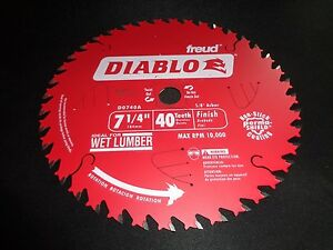 Two Diablo D0740a 7 1 4 40t Finish Circular Saw Blade Fits Dewalt Dcs575 Dws535