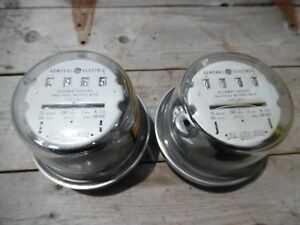 Vtg General Electric Watthour Watt Hour Meter 4 Bookends Lamp Parts Steampunk