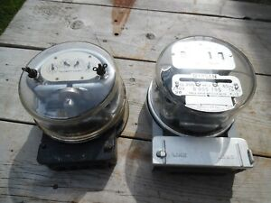 Vtg Duncan Watthour Watt Hour Meter Bookends 4 Book Ends Lamp Parts Steampunk