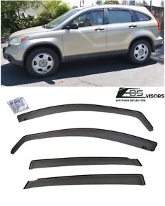 Eos Visor For 07 11 Honda Cr v In channel Side Window Rain Gaurd Deflectors