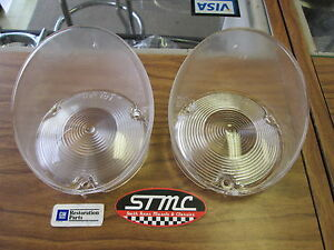 1971 1972 71 72 Cutlass New Pair Of Correct Clear Front Marker Lenses