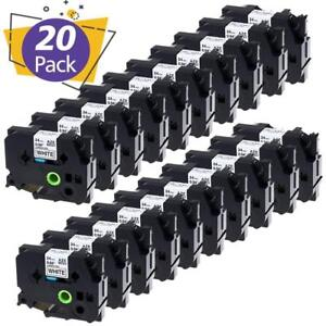 20pk Tze 251 Label Tape Compatible Brother P touch Label Maker Pt p700 24mm