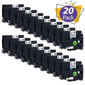 Tze s131 Strong Adhesive Label Tape Compatible Brother P touch Label Maker 20pk