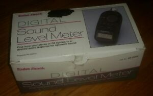 Radio Shack Digital Sound Level Meter 33 2055 W Case Manual In Original Bo