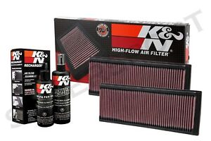 Two K N 33 2181 Air Intake Filters Recharger Kit For Mercedes See Detail