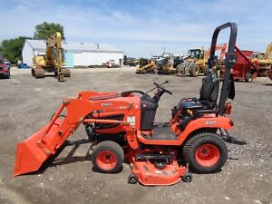 2017 Kubota Bx2370 Tractor Loader 4wd Hydro 60 Belly Mower 37 Hours