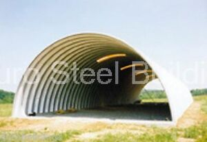 Durospan Steel 30x46x14 Metal Quonset Arch Building Kit Open Ends Factory Direct