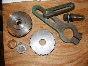Logan Powermatic 12 Lathe Banjo Bracket And Both Gears