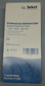 Select Professional Stethoscope 22 Sprague Rappaport Latex Free