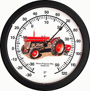 New 1964 Massey Ferguson 14 Round Thermometer Model 135 Farm Tractor Soil