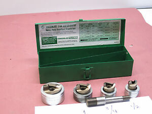 Greenlee 744 Slug Splitter Stainless Steel Knockout Punch Set