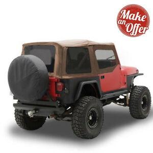 Smittybilt Replacement Soft Top Half Door Skins For 1988 1995 Jeep Wrangler Yj