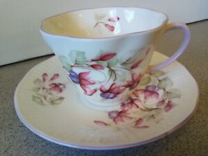 Queen S Rosina China Co Ltd Teacup And Saucer Made In England